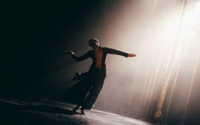 A dancer spins
