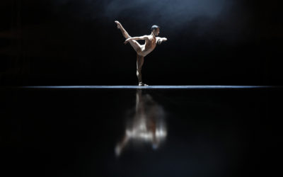 One dancer standing on one leg